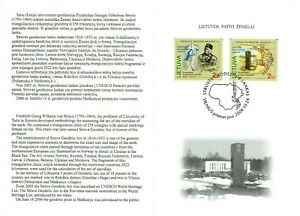 STAMP booklet of LITHUANIA 2009 - The Struve Geodetic Arc
