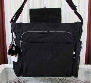 Kipling Kyler Baby Diaper Messenger Bag Travel Business Tote Black NWT