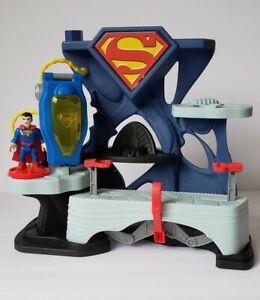 Imaginext Superman Fortress of Solitude Playset Super Man Figure**