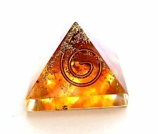 REIKI ENERGY CHARGED AMBER CRYSTAL ORGONE PYRAMID POWERFUL ENERGY GENERATOR