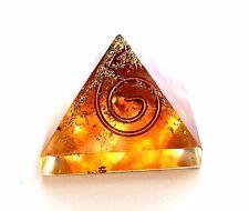 Energia reiki addebitate Ambra Cristallo Orgone PIRAMIDE potente generatore di energia