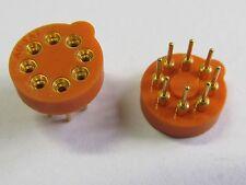 2 Stück - Transistorfassung 8 polig / TO99-TO5 AUGAT, gold - 2pcs