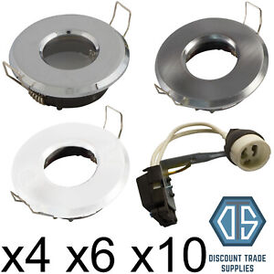 4x 6x 10x IP65 Shower Rated Bathroom Downlight Spotlight Recessed with GU10 LED