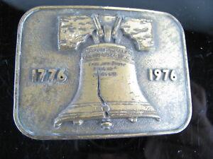 BICENTENNIAL LIBERTY BELL 1776 - 1976  COPPER TONED BELT BUCKLE