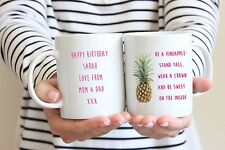 Personalised Pineapple Mug/Cup - Ideal Birthday Gift - Christmas Present