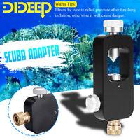 DIDEEP Oxygen Cylinder Refill Adapter Scuba Tank Refill Adapter Diving Tool