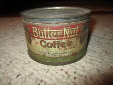 Rare Vintage Half Pound Butter Nut Coffee Tin Omaha, Nebraska!!!