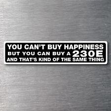 Buy a 230E sticker Premium 10 year vinyl water/fade proof Mercedes