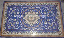 3'x2' Marble Dining Hallway Table Top Lapis Lazuli Random Inlay Patio Decor E341