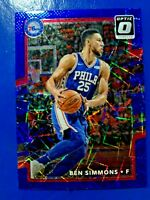 Ben Simmons 2017-18 Donruss Optic Blue Velocity #114 76ers