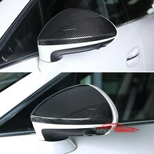 Real Carbon Fiber Mirror Covers Fit Porsche Panamera 2014-2016 LHD Add on Pair