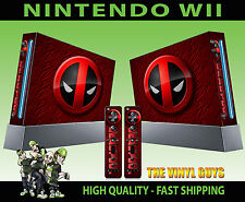 NINTENDO WII STICKER DEADPOOL LOGO 02 MERC WITH A MOUTH SKIN & 2 PAD SKINS