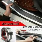 Parts Accessories Carbon Fiber Vinyl Car Interior Door Sill Scuff Plate Sticker