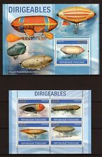 TOGO 2010 TOGOLAISE - DIRIGEABLES - AVIATION HISTORY MS + S/S MNH** D