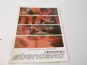 VINTAGE MUSICAL INSTRUMENT CATALOG #10064 - 1971 LUDWIG STANDARD DRUMS