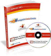 How To Create Your Own Profit Generating Info Products Without Making It (CD)