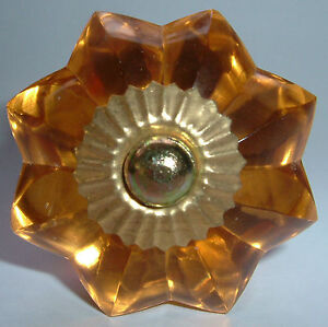 glass cupboard and furniture pulls flower shaped door knobs 4 colours brass base