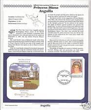 ANGUILLA PRINCESS DIANA MEMORIAL FIRST DAY COVER (9616)