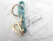 Porte-clés bleues en cuir pour femme