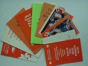 CLEMSON TIGERS FALL/WINTER SCHEDULES, 10 DIFFERENT 1974-95 (MULTIPLE, WRESTLING