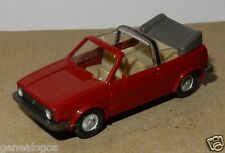 RARE MICRO WIKING HO 1/87 VW VOLKSWAGEN GOLF I CABRIOLET ROUGE FONCE
