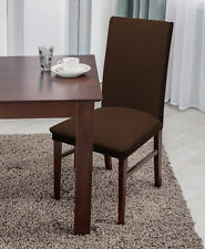 Linen Store Basket Weave Stretch Dining Room Chair Seat Slip Cover (Brown)