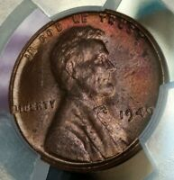1949 P 1C RB Lincoln Wheat One Cent PCGS MS64RB Toning 4589