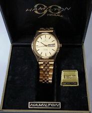 Vintage 1980s Mens Hamilton Day Date Wrist Watch w Box