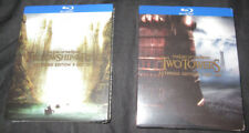 New! Lord of the Rings: Fellowship & Two Towers 5 Disc Blu-Ray Extended Editions