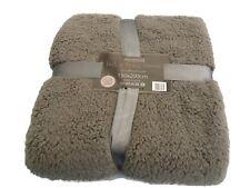 Slate Grey Teddy Fleece Throw /Blanket  Luxury Soft Double Warm Large 150x200cm