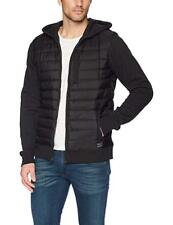 NWT O'Neill Men's Black Shibuya Zip-Front Quilted Hoodie Jacket Coat Medium New