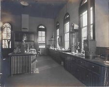 1910S CABINET PHOTO ROBESON PA INDUSTRIAL SCENE STONE MILL HOUSE LAB INTERIOR