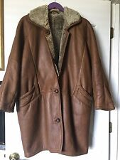Applausi Italian leather, Very warm, brown Jacket/Coat Women Size L (40 Europe)