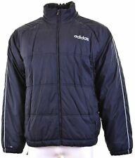 ADIDAS Mens Padded Jacket Size 42 XL Navy Blue Polyester  MR07