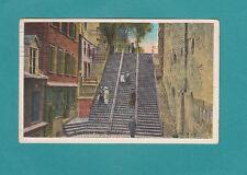 Breakneck Steps Quebec Canada Vintage Postcard Valentine Publishers Post Card