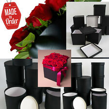 18 florist boxes wholesale lot square round with lid black or other colours