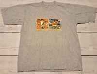 Vintage Dragon Ball Z Double Sided Goku T-Shirt Size XL Single Stitch Gray