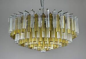 Vintage Pair Chandeliers Coppia lampadari Design Venini Murano Anni 60 70