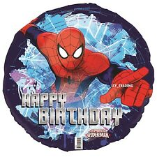 "Spiderman Themed Party Supplies  Happy Birthday Foil Balloon 18"" Helium Boy VIC"