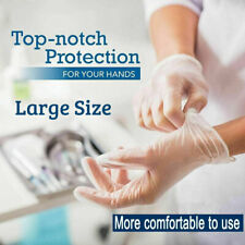 100x Disposable Gloves PVC Vinyl Free Powder Latex Food Safe Hand Protection UK