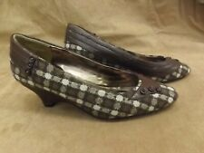 Vtg New NOS D. Myers JJ Girl Brown Show Time Wedge Cone Heel Slip On Shoes 10W