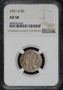 1921-S Buffalo Nickel NGC AU-50