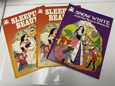 Story Time Books Snow White And Sleeping Beauty Vintage 1982 1983 Hardcover