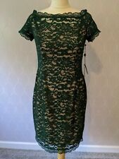 New Adrianna Papell Green, Lace, Pencil Dress UK 10 Petite. RRP £130. With tags