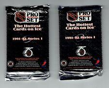 PRO SET 1991-92 SERIES ONE SEALED PACKS.