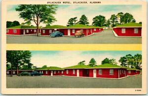 Sylacauga, Alabama Postcard SYLACAUGA MOTEL Roadside Linen c1950s Unused