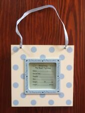 Birth Announcement Plaque~Baby Boy Shower Gift~Personalize w/Name & Statistics!