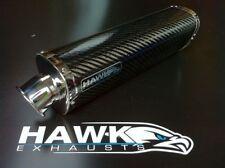 Hawk Triumph 955i 2003 y 2004 Tri-oval carbono escape puede Silenciador Sl