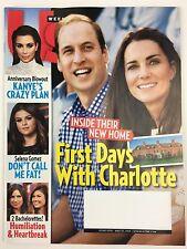 Us Weekly Magazine 5/25/2015 Prince William Kate Middleton Selena Gomez Kim K