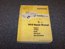 1988 Toyota Corolla Hatchback Workshop Shop Service Repair Manual FX FX16 1.6L
